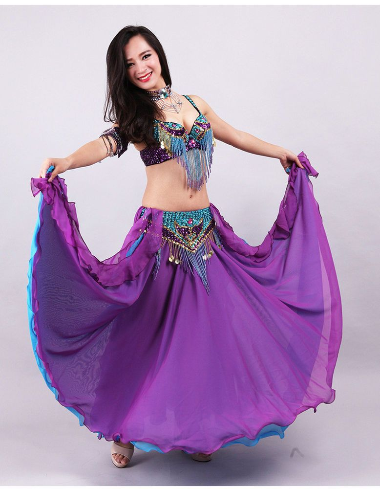 Luxury Professional Beading Belly Dancing Costumes 5PCS XS S M L XL ...