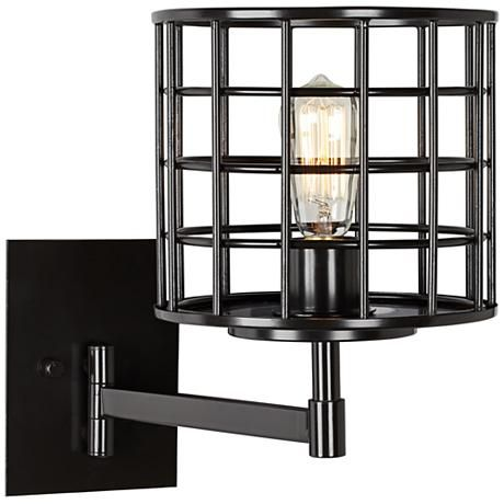 """Prelude 15"""" High Industrial Bronze Swing Arm Wall Lamp  $198"""