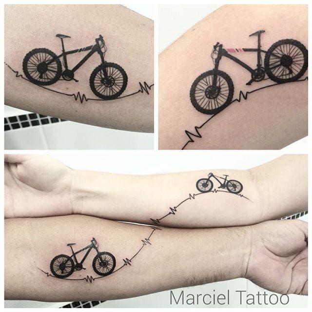 bike tattoo by marciel silva bike fixie biker cyclist biking sport matching couple. Black Bedroom Furniture Sets. Home Design Ideas