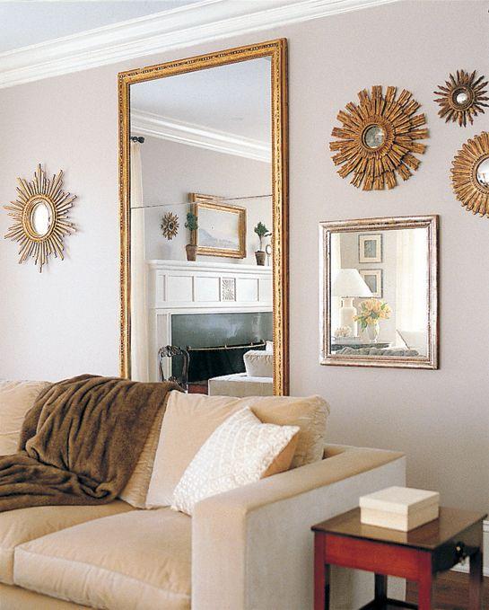 Large Floor Mirror With Small Mirror Arrangement