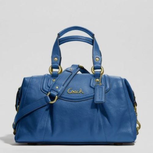 31fef080c55c3e NWT Coach Ashley Leather Satchel Cobalt Blue F19247. Starting at $1 on  Tophatter.com!