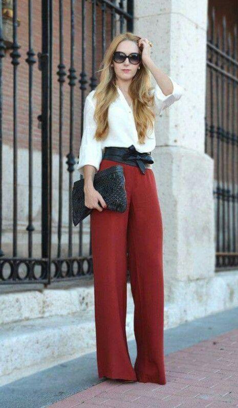 Outfit En Pantalon Holgado Pantalones De Moda Moda Moda Para Mujer