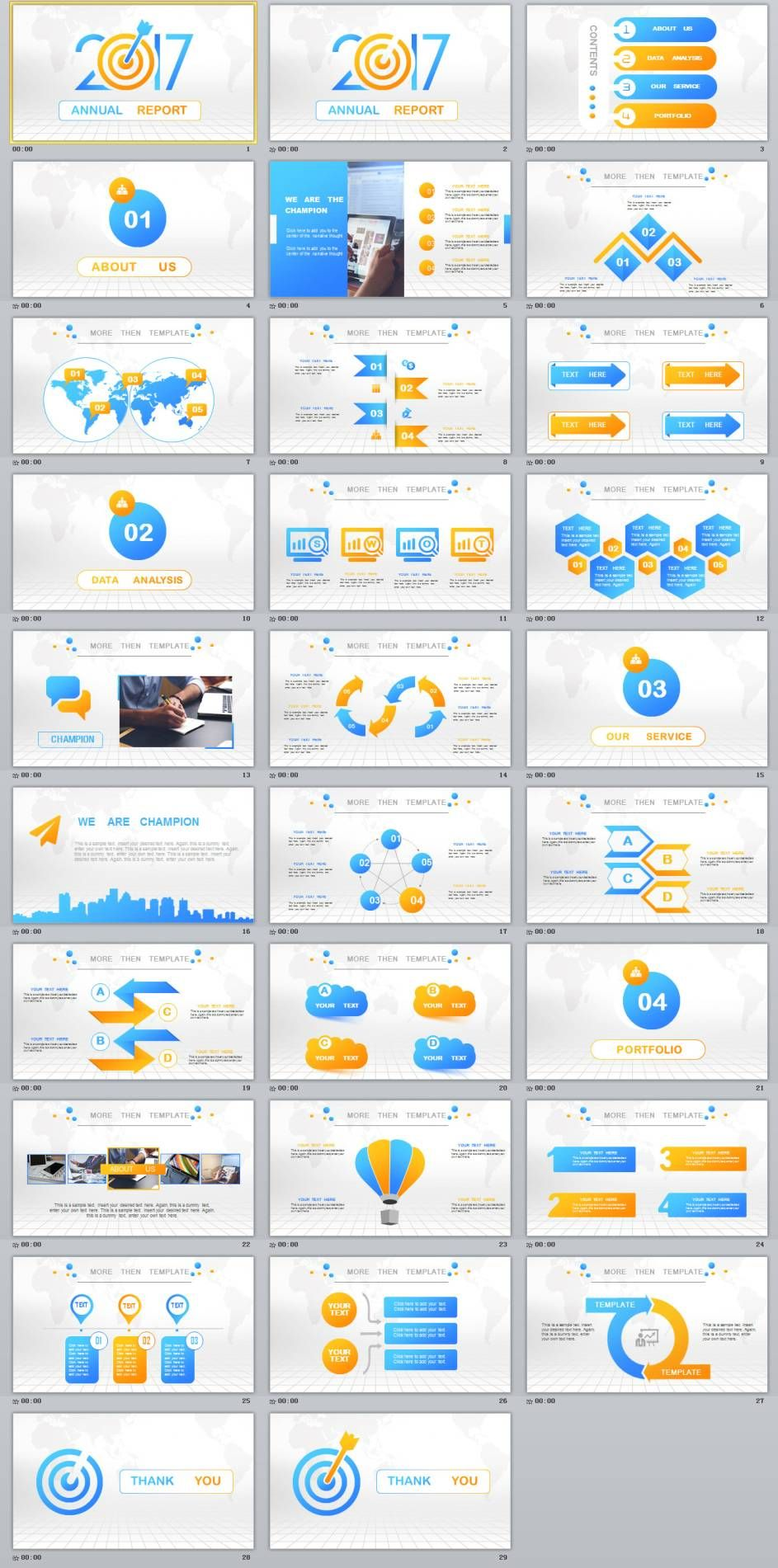 29 best annual chart report powerpoint template download