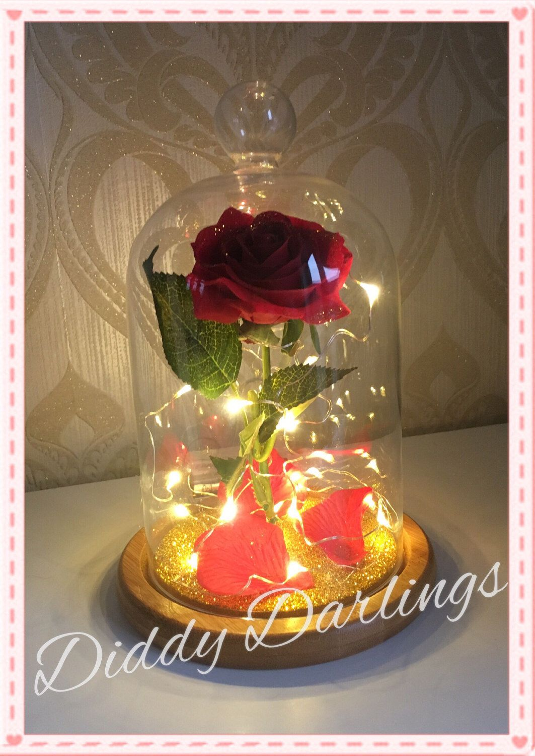 Belle Jar Rose Beauty And The Beast Magic Rose Bell Jar With Or