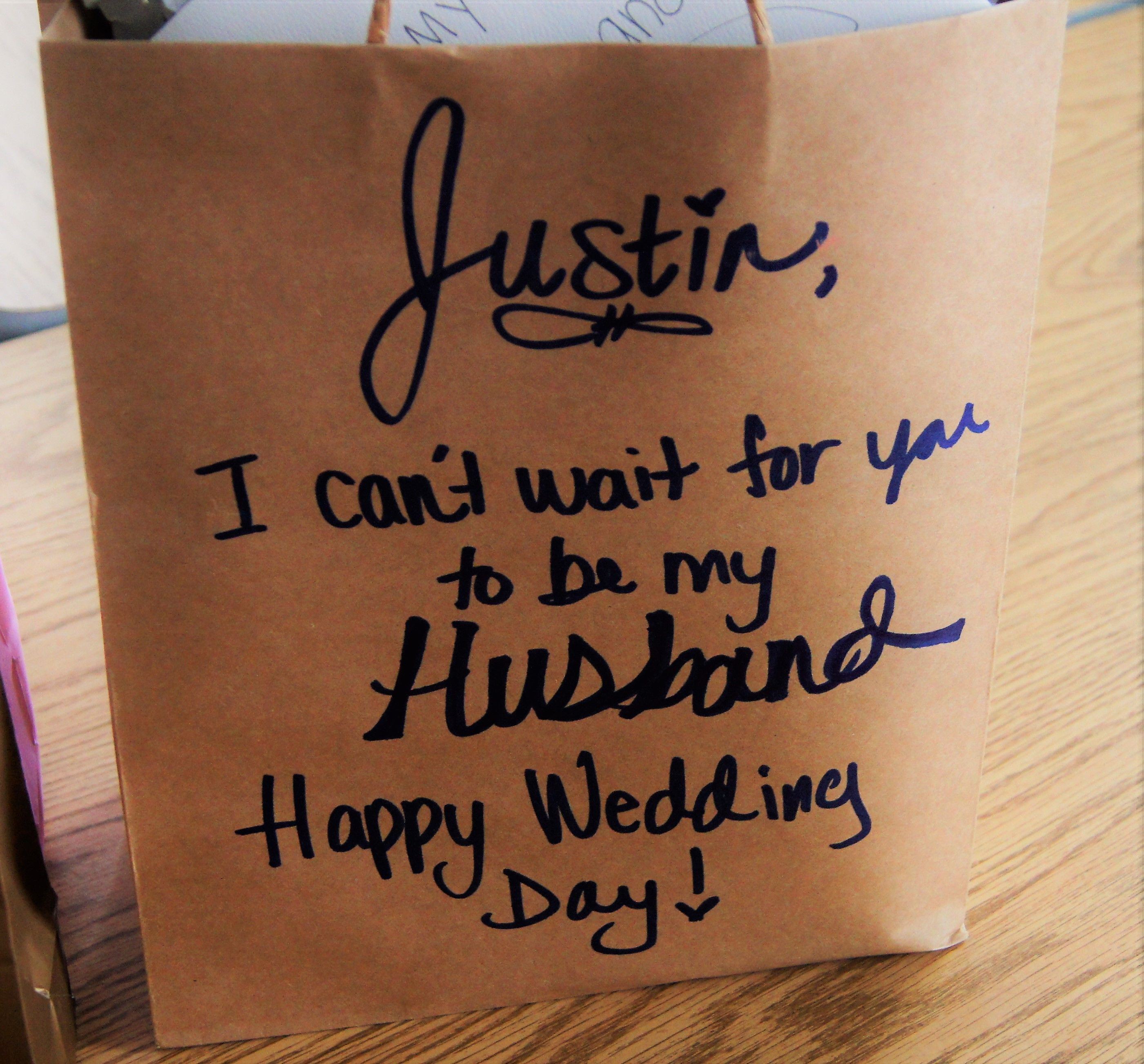Imagine making a special gift for you husband your wedding