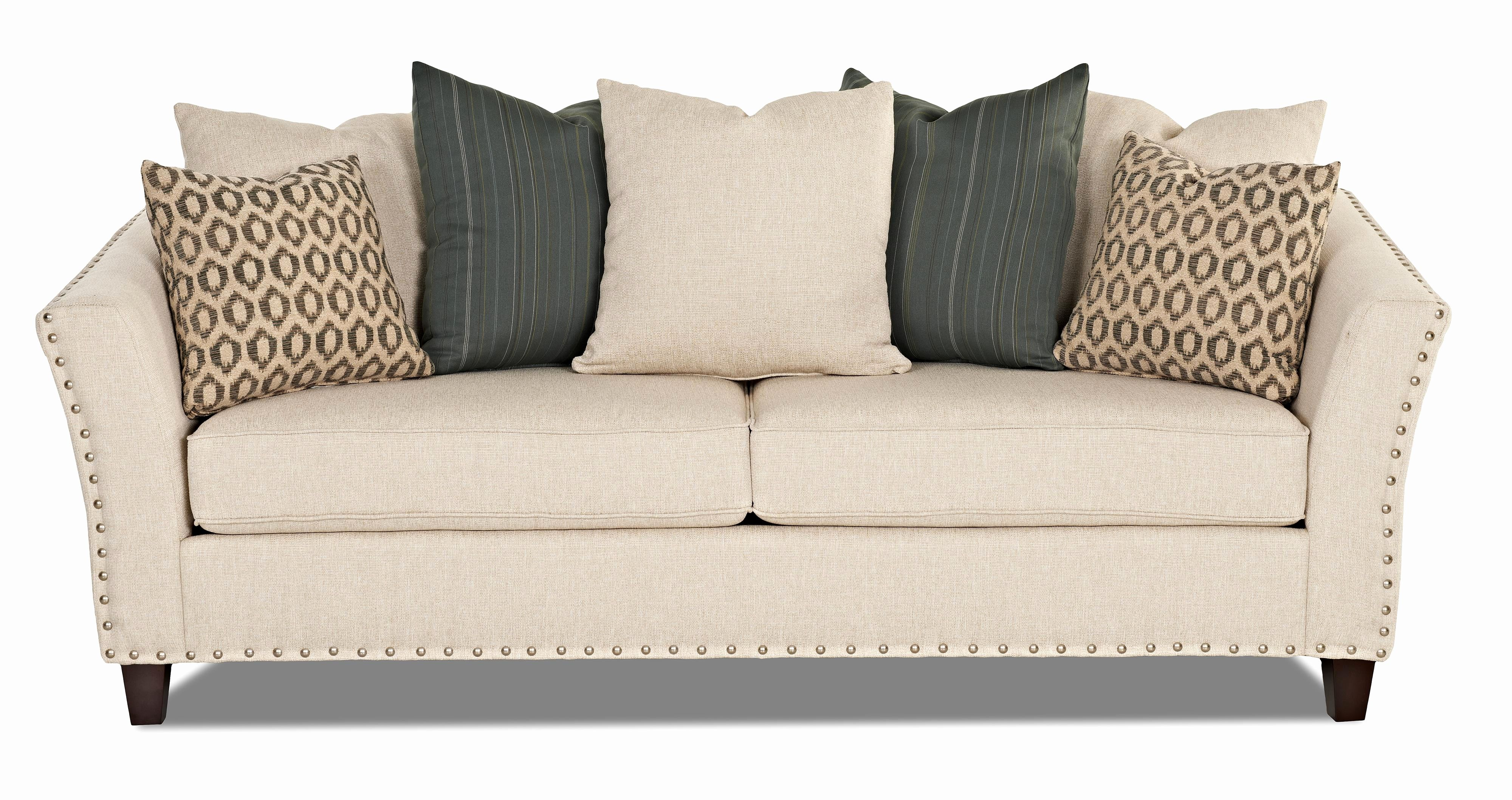 Awesome Nailhead Sleeper Sofa Shot With Trim Best As Pillows On Queen