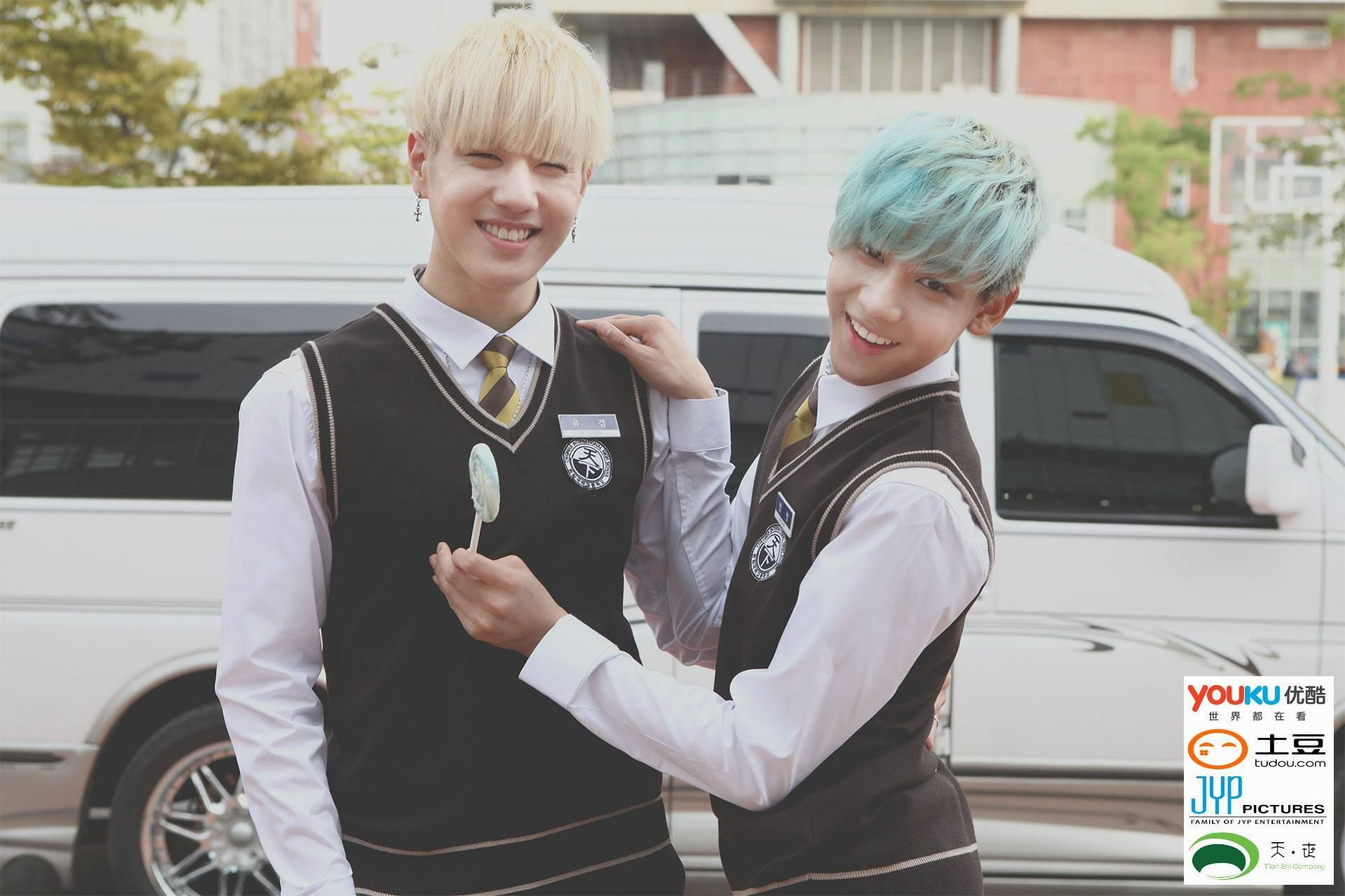 Dream Knight Reveals Photo Teasers Ft Got7 In School Uniforms Yugyeom And Bambam Dramas Got7 Casal