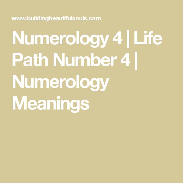 Numerology 4 | numerology | Life path number, Numerology