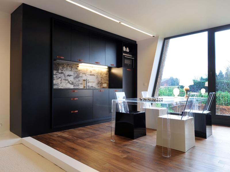 Keuken u renovatie u modern u keukenwand u houtlook u architect