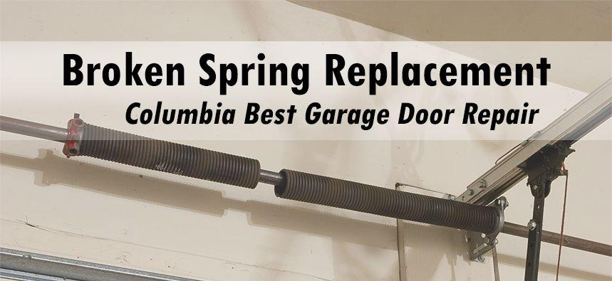 Garage Door Spring Replacement Garagedoors Garagedoorspring Columbiamd Garage Door Spring Repair