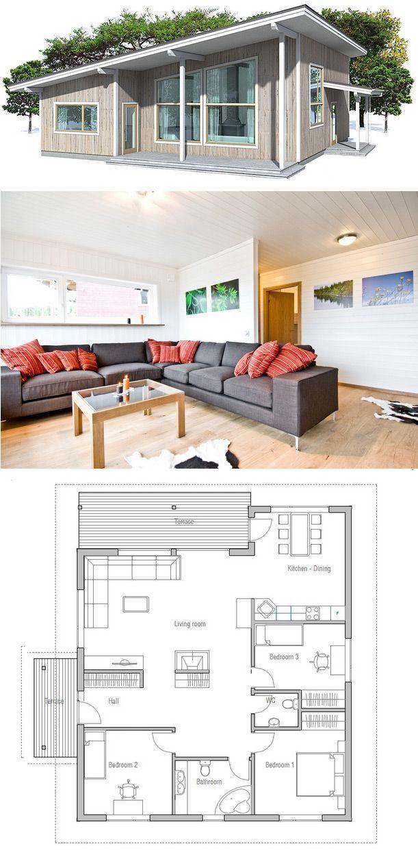 plan de petite maison Plan Pinterest Architecture, House and
