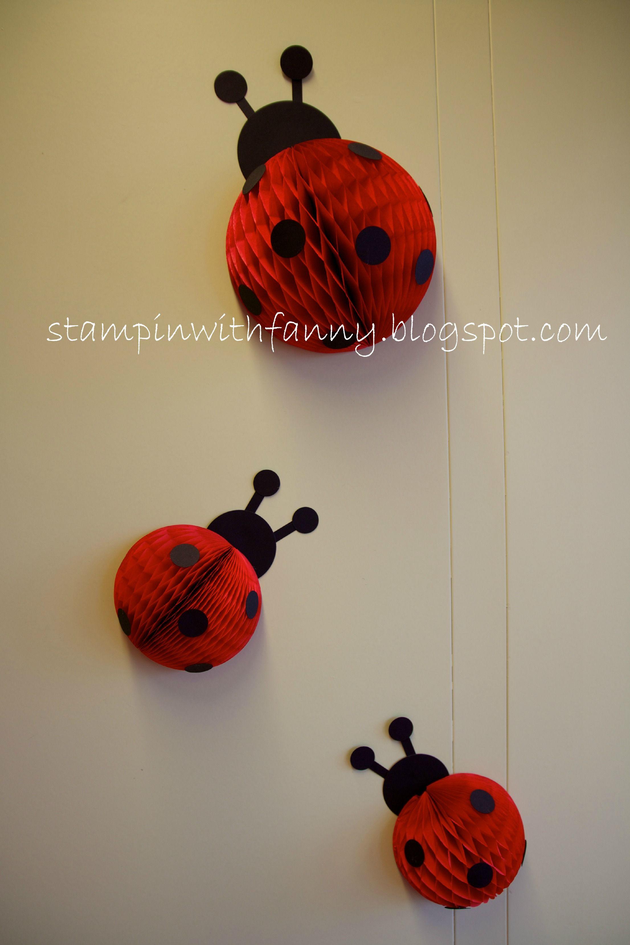 stampin up marienk fer geburtstag ladybug deko decoration girlande wimpel lager than life. Black Bedroom Furniture Sets. Home Design Ideas