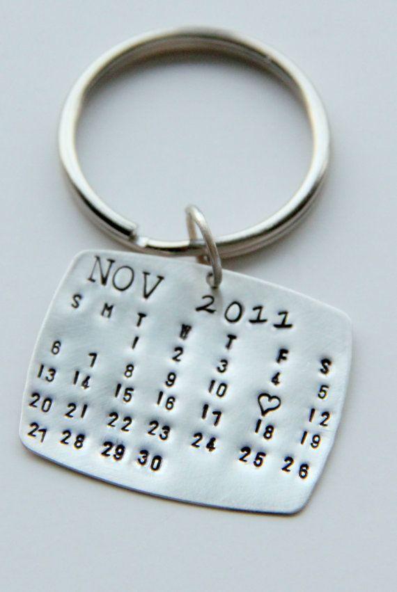 I want to make this Calendar Keychain Silver, Calendar Key Chain