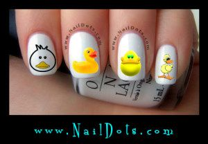 Cute Duck Nail Decals - Easter Nail Decals