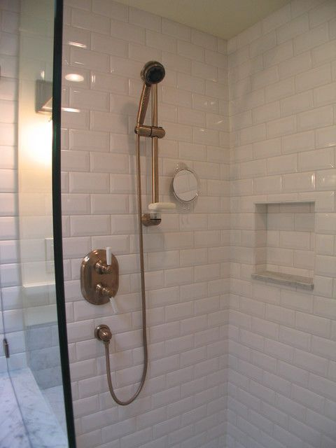 Capitol Hill Craftsman Bathroom And Addition Craftsman Bathroom Beveled Subway Tile Shower Subway Tiles Bathroom