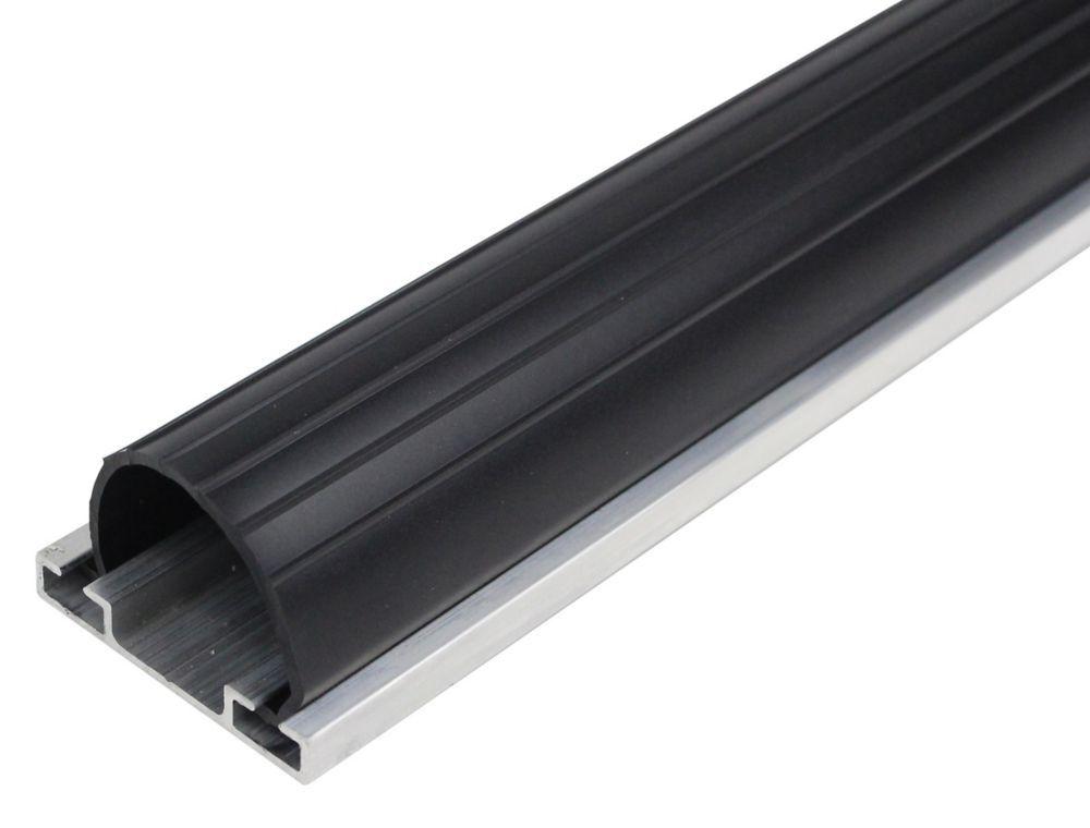 9 Ft Premium Universal Aluminum Vinyl Garage Door Bottom Weather Stripping Black Garage Doors Garage Doors