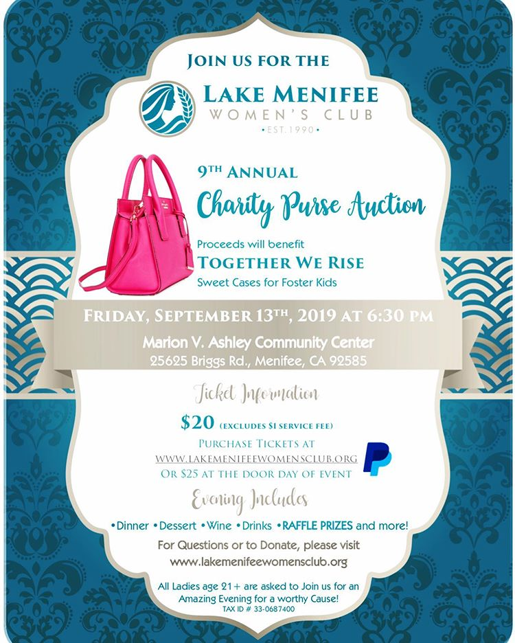Mark Your Calendars Ladies Our 9th Annual Purse Auction Is Happening September 13th You Don T Want To Miss All The Fun C Fostering Children Charity Auction