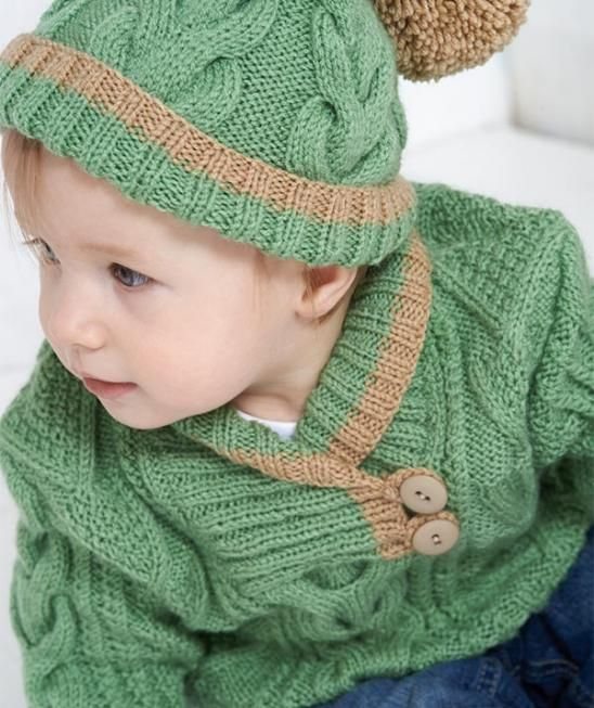 c0e415d68 Sweater and Hat with Cable Pattern, S8653 - Free Pattern | Schachenmayr.com