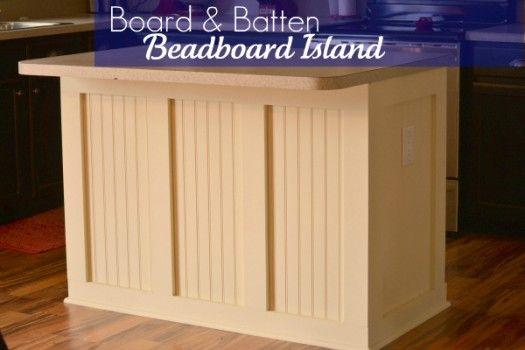 Board and batten beadboard Island.  LOVE it.