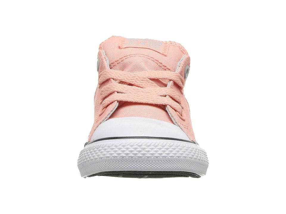 273533acde2b Converse Kids Chuck Taylor All Star Madison Ox (Infant Toddler) Girl s  Shoes Pale Coral Dried Bamboo White