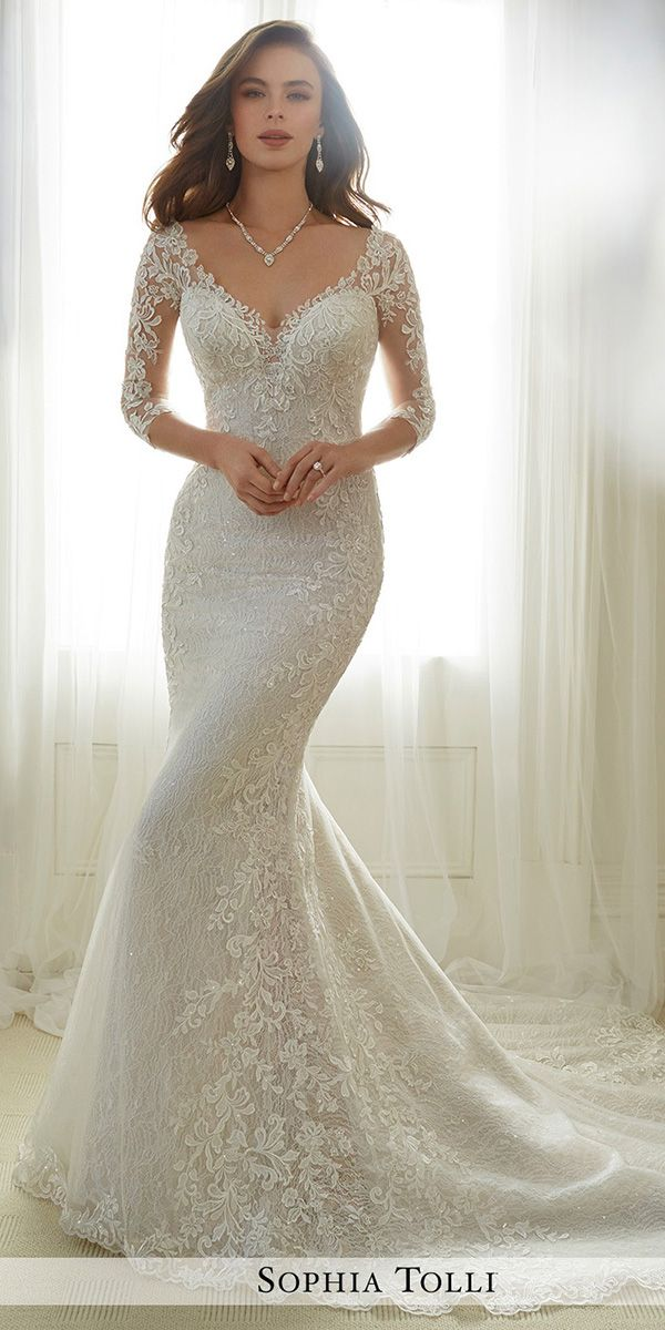 36 Lace Wedding Dresses That You Will Absolutely Love Sophia Tolli Wedding Dresses Lace Mermaid Wedding Dress Perfect Wedding Dress