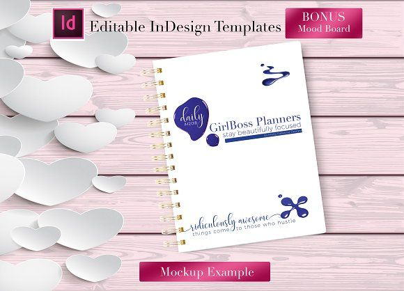 daily planner indesign template by indesign templates on