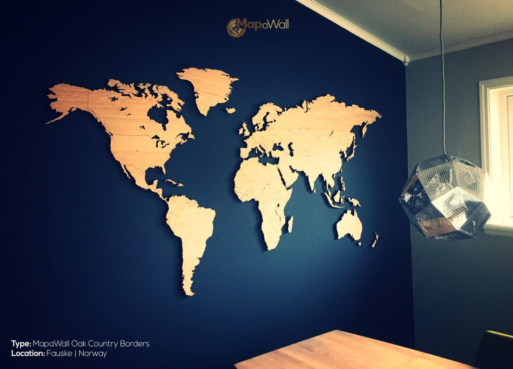Oak Country Borders (magnetic) Worldmap, Living room ideas and - new world map blank with countries border