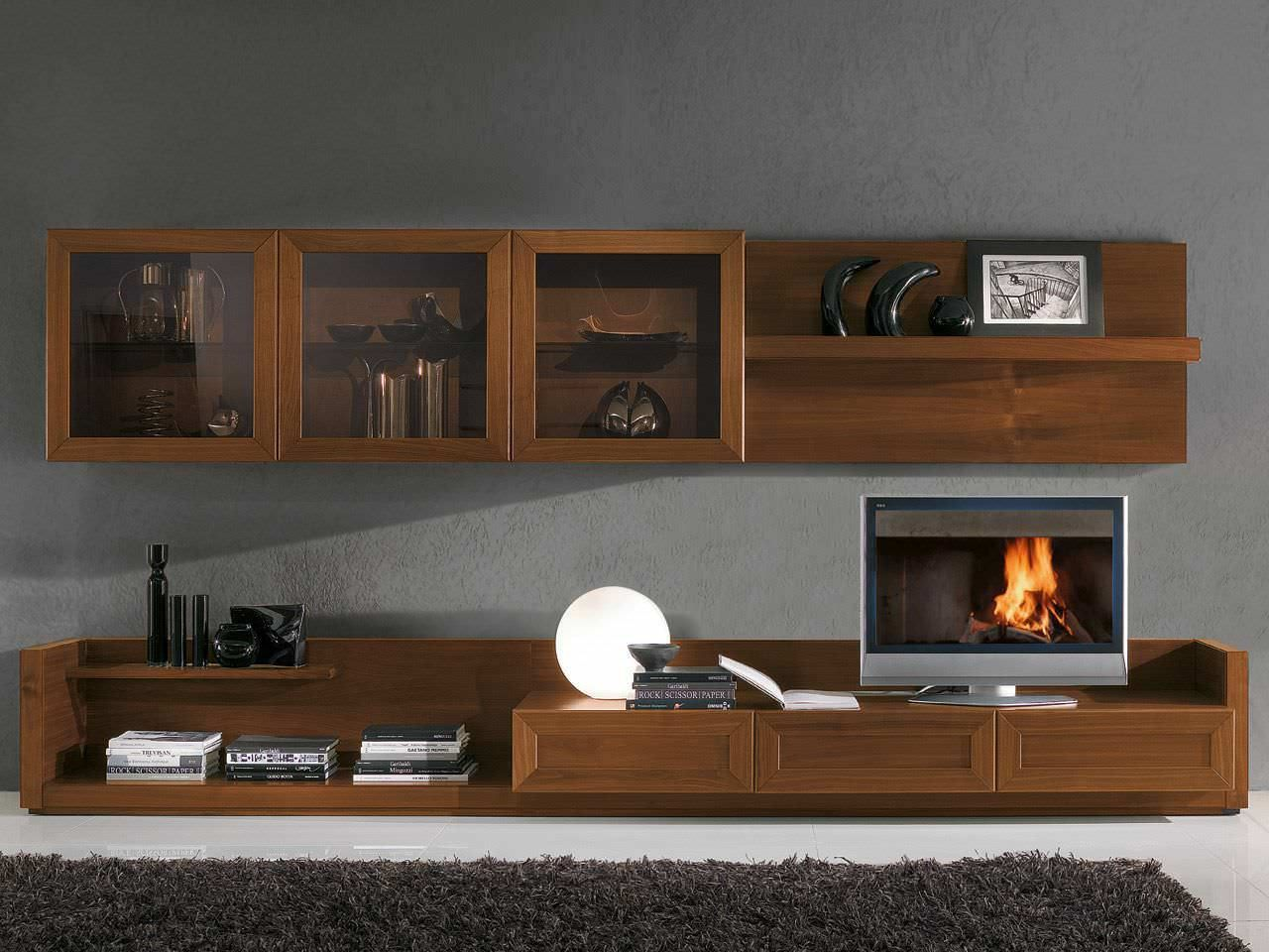 Muebles para tv modernos the image kid for Modernos muebles