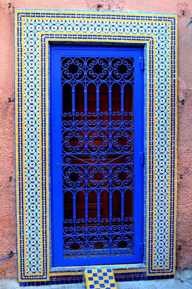 """Marrakech, Morocco. (Morocco-so colorful, good food, where """"Casablanca"""" was set. I'd like to visit.)"""