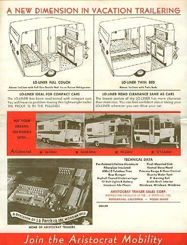 7016b Jpg 600 Jpg Tin Can Tourist Aristocrat Trailer Vintage Travel Trailers