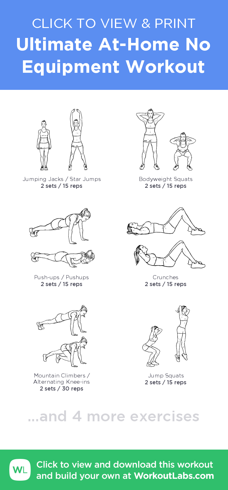 Ultimate AtHome No Equipment Workout click to view and