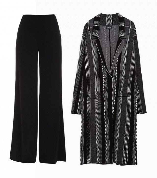 Diane von Furstenberg Preston Trousers, Zara Jacquard Coat