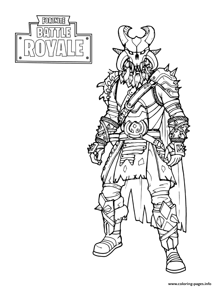 Print Fortnite The Dark Viking Coloring Pages Coloring Pages Cool Coloring Pages Coloring Books