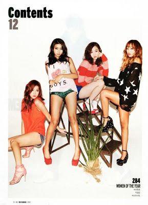 SISTAR Dasom Bora Hyorin Soyu GQ Magazine December 2012 Hyorin Scandal