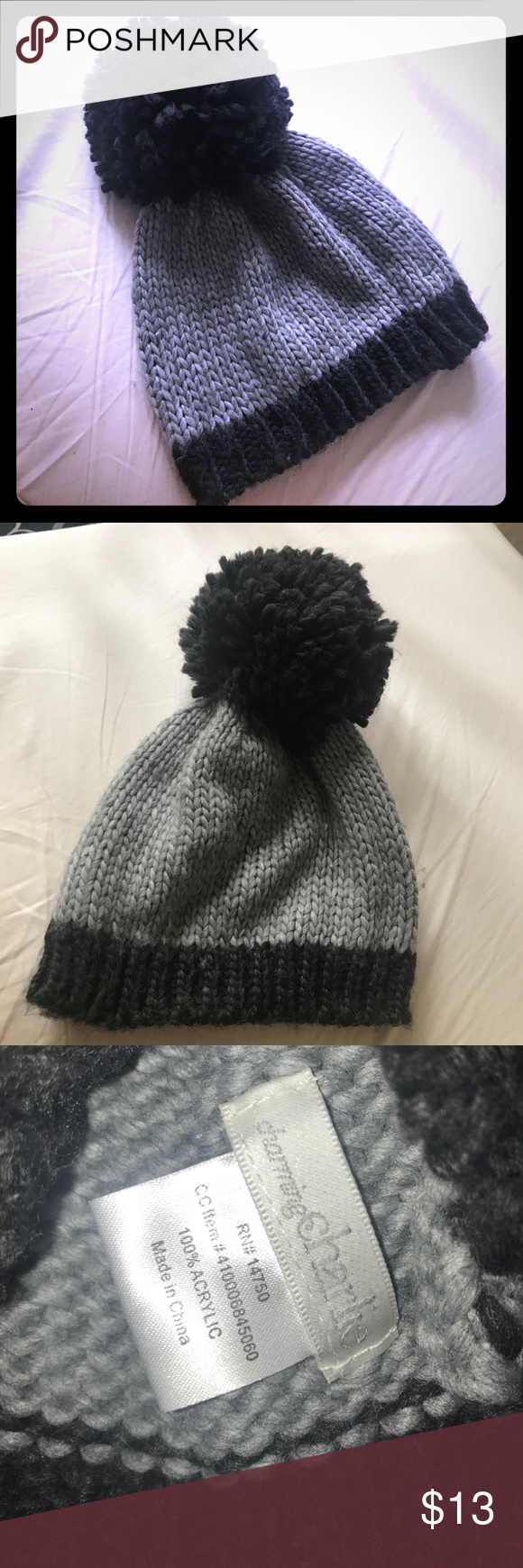 Black u Gray Poof Winter Beanie Gray Winter and Customer support