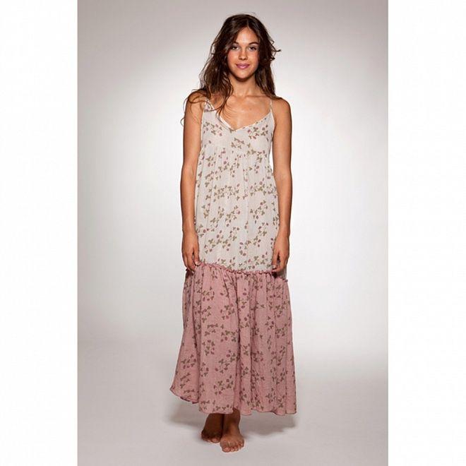Dámské bílé dlouhé letní šaty s květinovým potiskem Ian Mosh  d3dc916731