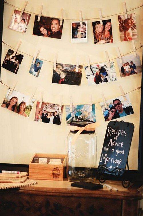 100 Creative Rustic Bridal Shower Ideas Photo garland Bridal