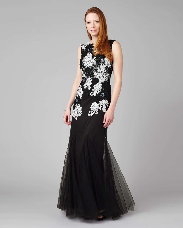 Phase Eight Aude Tulle Full Length Dress Black | Wedding | Pinterest ...