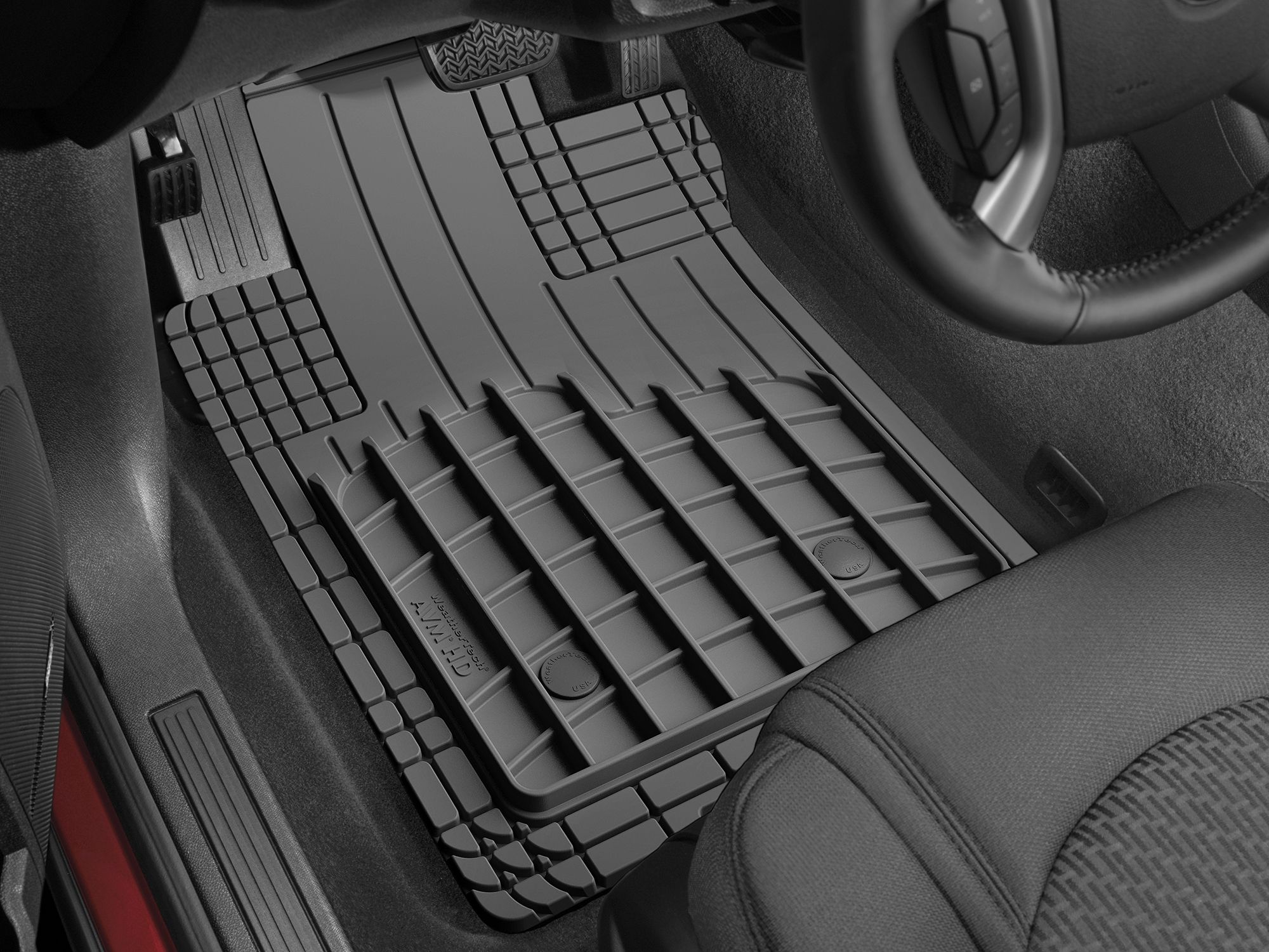 Heavy Duty And Affordable The New Weathertech Avm Hd Mats Are The Universal Trim To Fit Mats That You Ve Weather Tech Floor Mats Weather Tech Car Floor Mats
