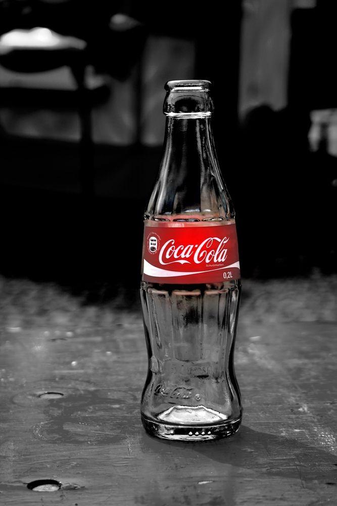 Coca Cola Coke love the classics color splash red Art