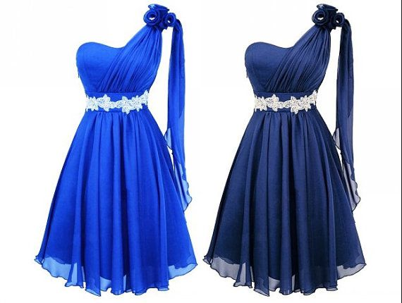 Rhinestone and Royal Blue Bridesmaids Dresses