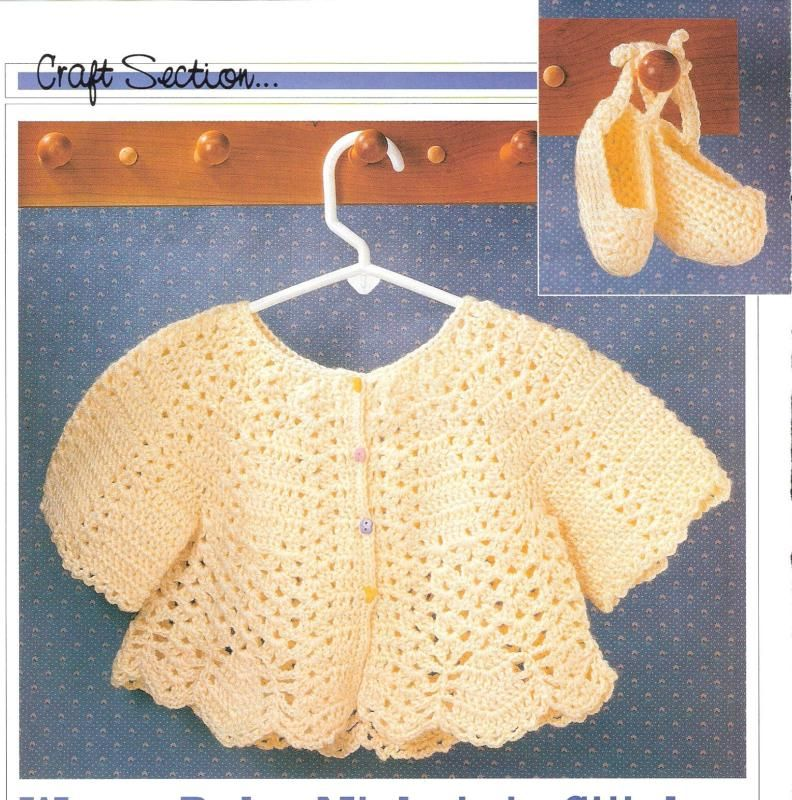 Warm Baby Sweater And Booties Crochet Pattern Infant 6 12 Months