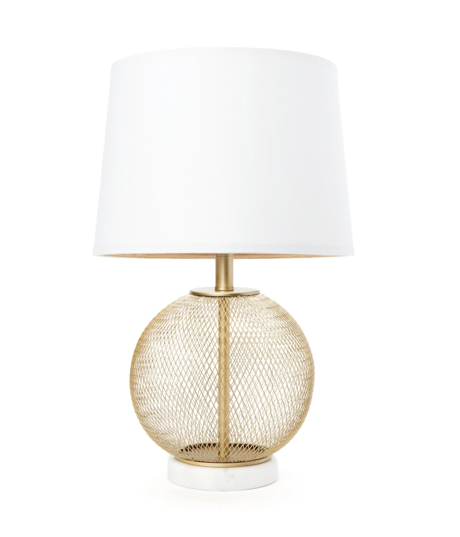 Gold Metal Mesh And Marble Table Lamp Marble Table Lamp Table Lamp Lamp