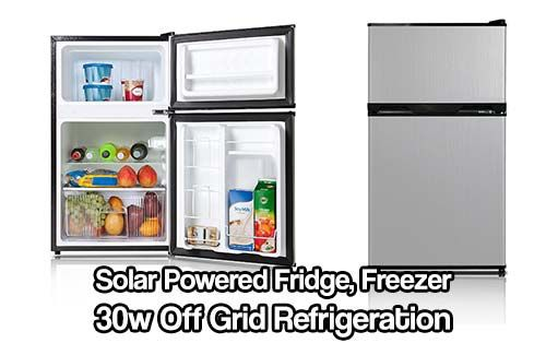 Solar Powered Fridge Freezer 30w Off Grid Refrigeration Don T Worry About Your Food Getting Ruined Again With This Low P Solar Power Solar Solar Power Panels
