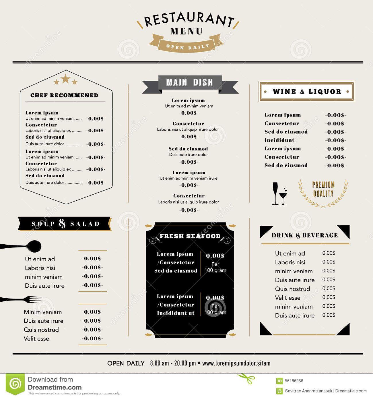 restaurant menu design stock photos  images   u0026 pictures