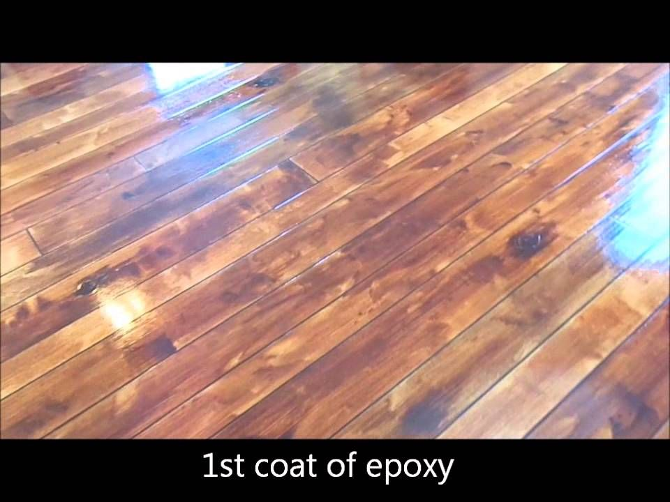 How To Make A Hardwood Look With Stain Amp Epoxy On Concrete