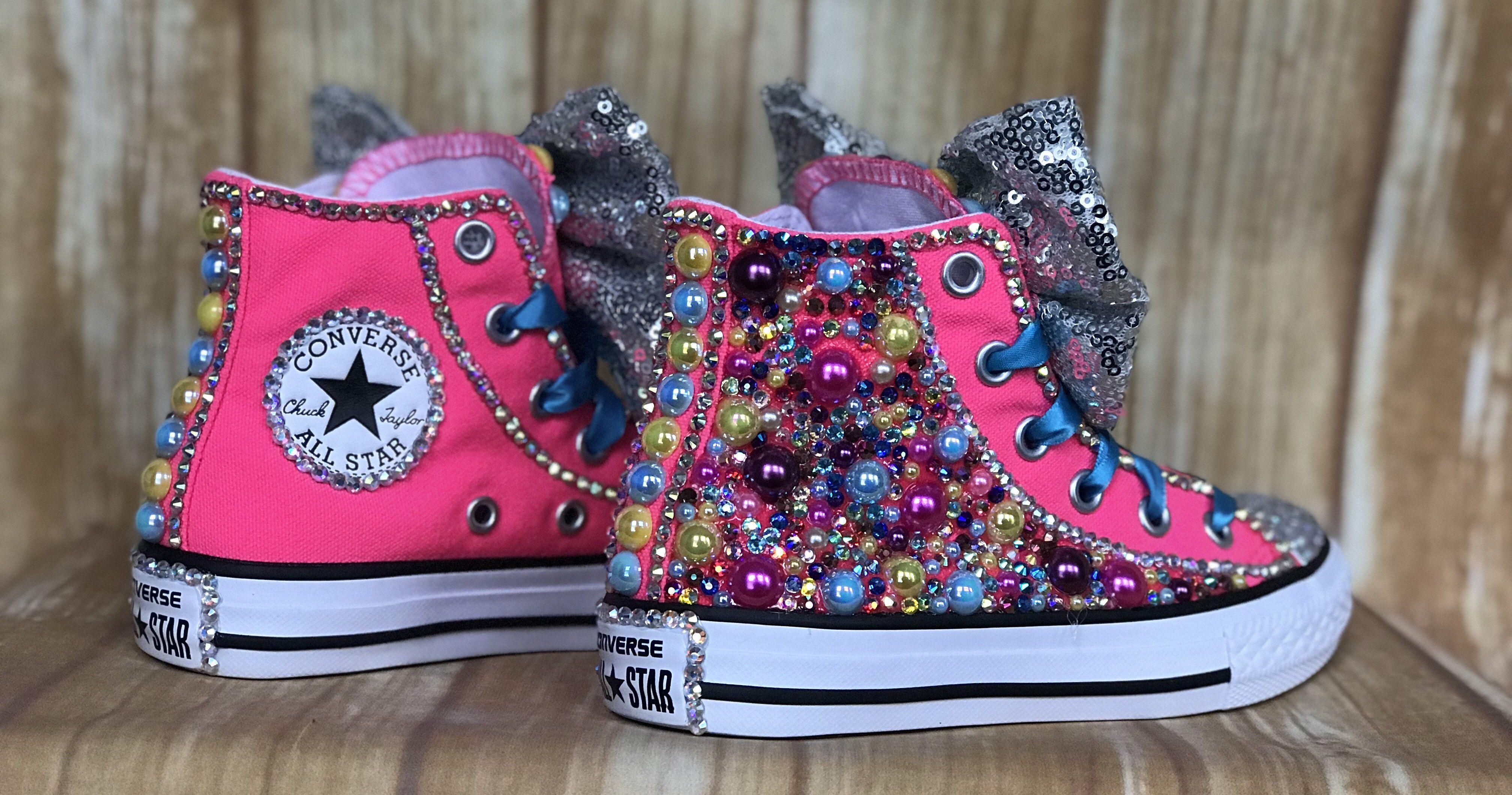 c337dbd516267 Jojo Siwa Inspired Converse Sneakers, Little Kids Shoe Size 10-2 in ...
