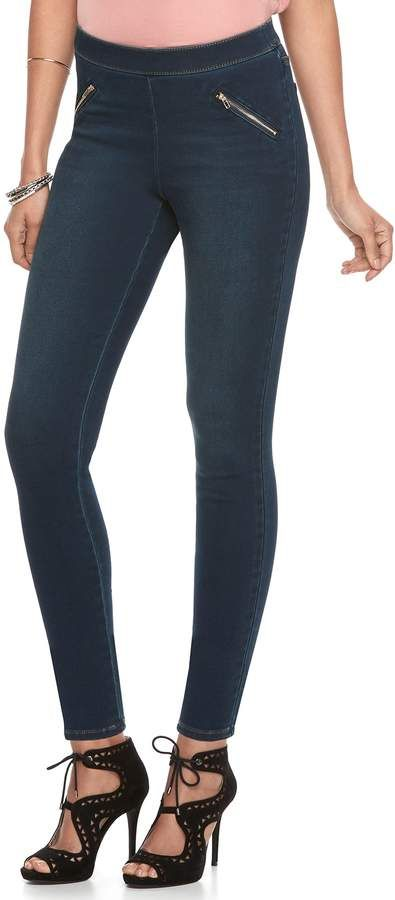 6d7ccaa77d3cc JLO by Jennifer Lopez Women's Midrise Pull-On Jeggings   Products ...