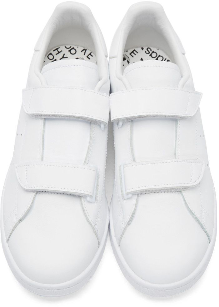adidas Originals by HYKE - White Leather AOH-005 Sneakers