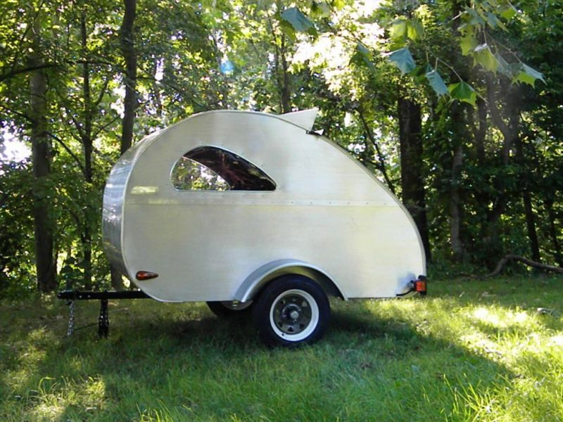 Teardrop Camper Trailer For Motorcycle Or Small Car 275 Lbs In